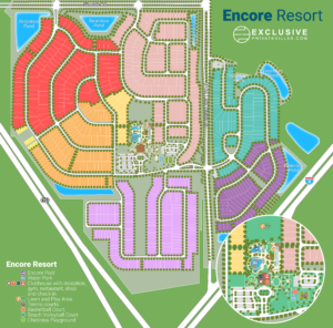 Encore Resort Map